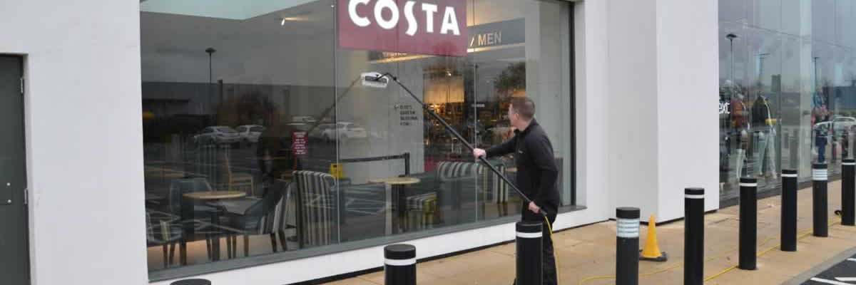 Shopfront window cleaning Manchester